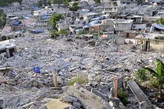 Destruction after the earthquake
