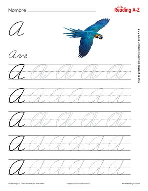 All Spanish Cursive Practice Sheets