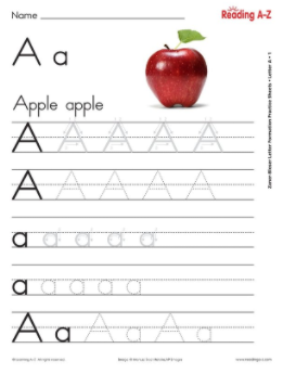 Print Letter Formation Practice Sheets